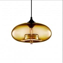 pumpkin glass pendant light blown glass lighting pendants