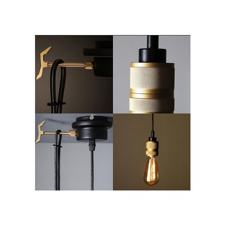 MIKE - Brass Pendant Light  sc 1 st  Light and L&s & MIKE - Industrial Single Edison Bulb Pendant - Light and Lamps